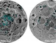 Glaces d'eau aux pôles de la Lune