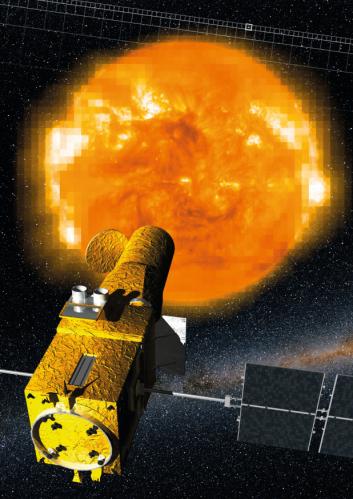 Le Soleil - crédits Insituto de Astrofisica de Canarias ESA/Soho