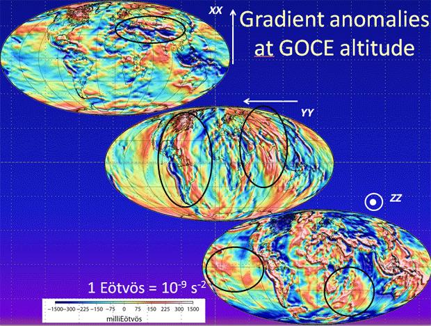 Anomalies gradients gravitationnels Goce
