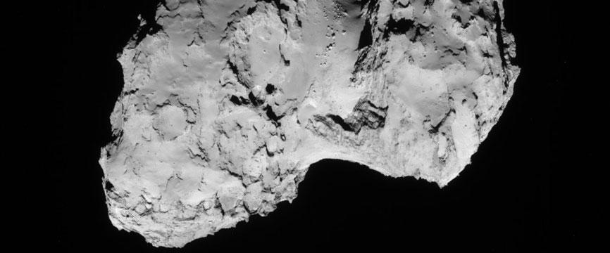 Des macromolécules détectées par Rosetta dans la comète Tchoury