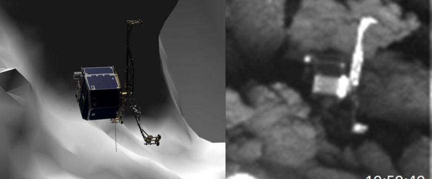 Philae localisé à la surface de la comète