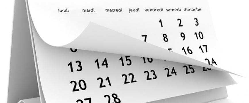 Agenda 2018 des contributions