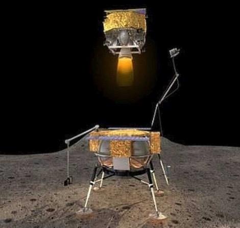 Décollage du module contenant les échantillons lunaires lors des missions Chang'e 5 & 6