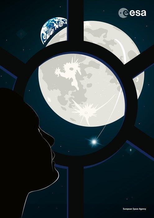 Observation de la Lune depuis Gateway