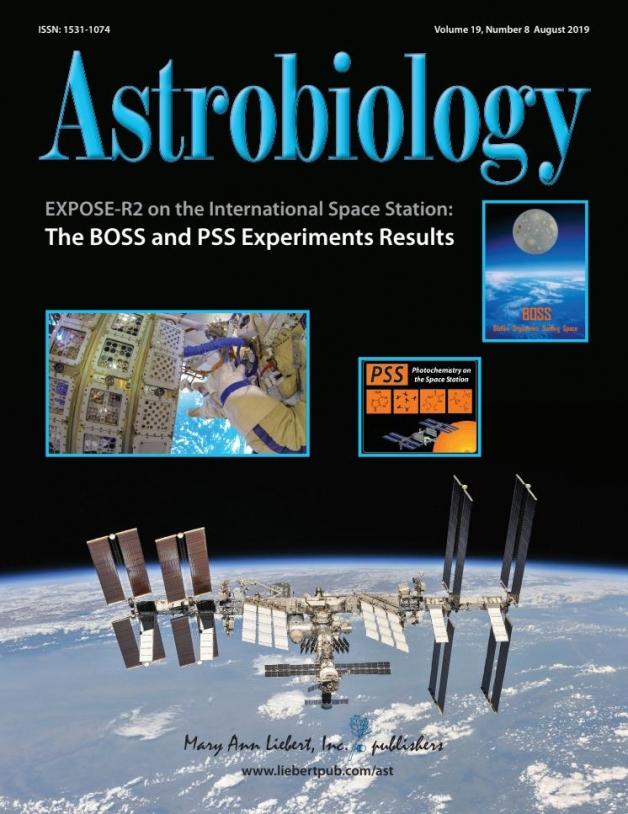 Couverture du numéro spécial d'Astrobiologie sur Expose-R2