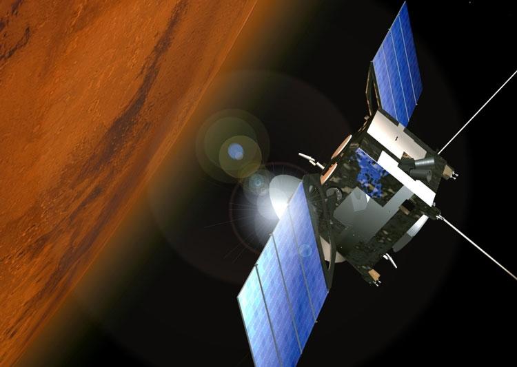 Mars Express en orbite autour de Mars - Crédit : ESA
