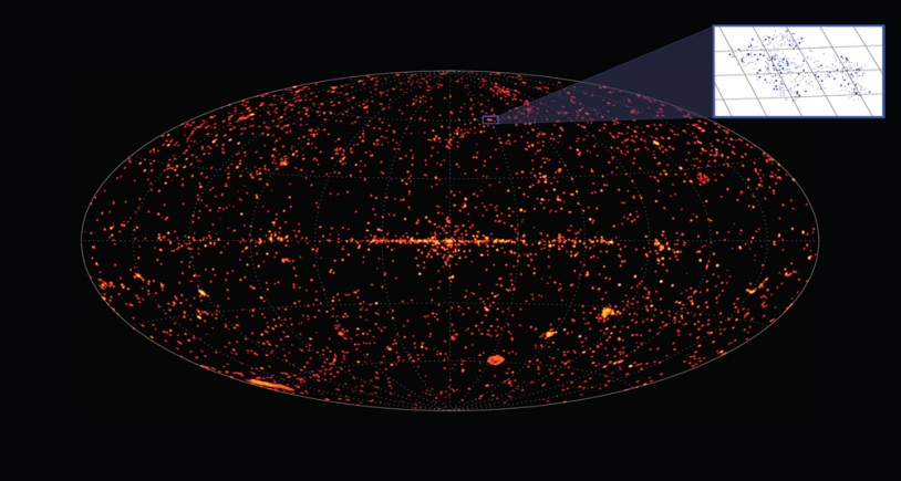 The latest sky map of X-ray sources from the XMM-Newton satellite. Credits: ESA/XMM-Newton/EPIC/M. Watson (University of Leicester).