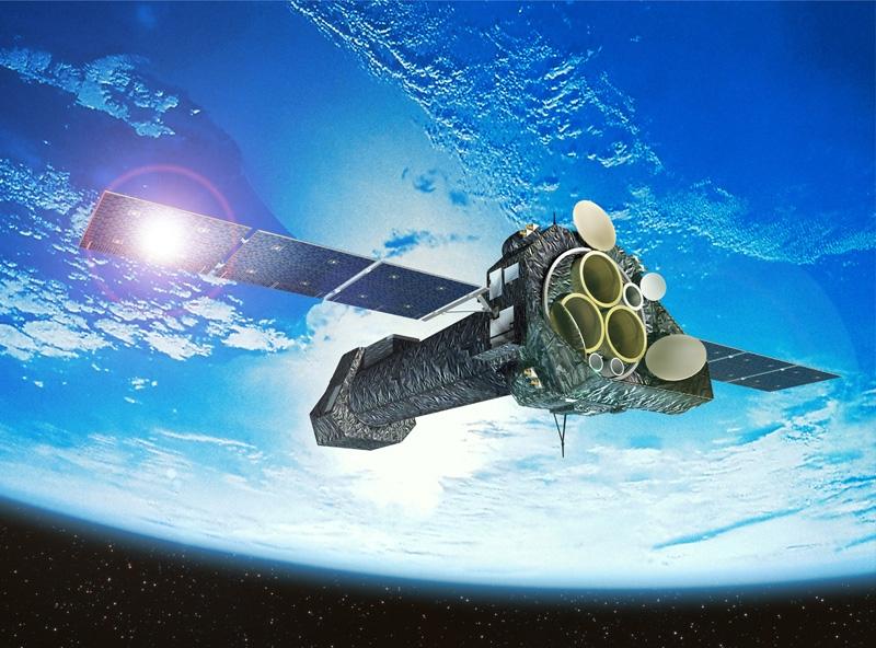 Le satellite XMM-Newton scrute les sources de rayons X de l'Univers depuis 1999. Crédits : ESA.