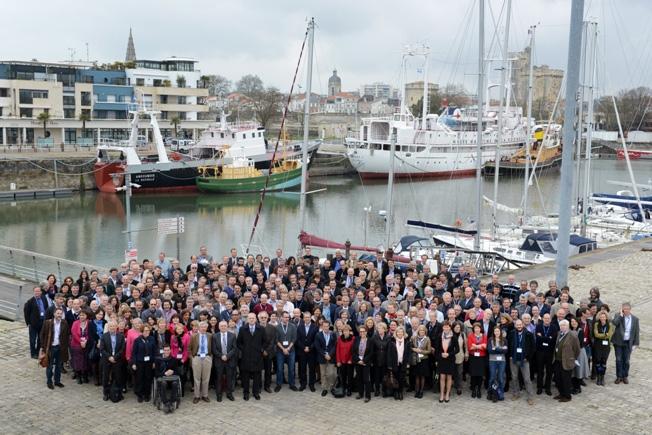 Participants au séminaire de prospective scientifique du CNES du 17 au 20 mars 2014 à La Rochelle. Crédits : Rachel Barranco.
