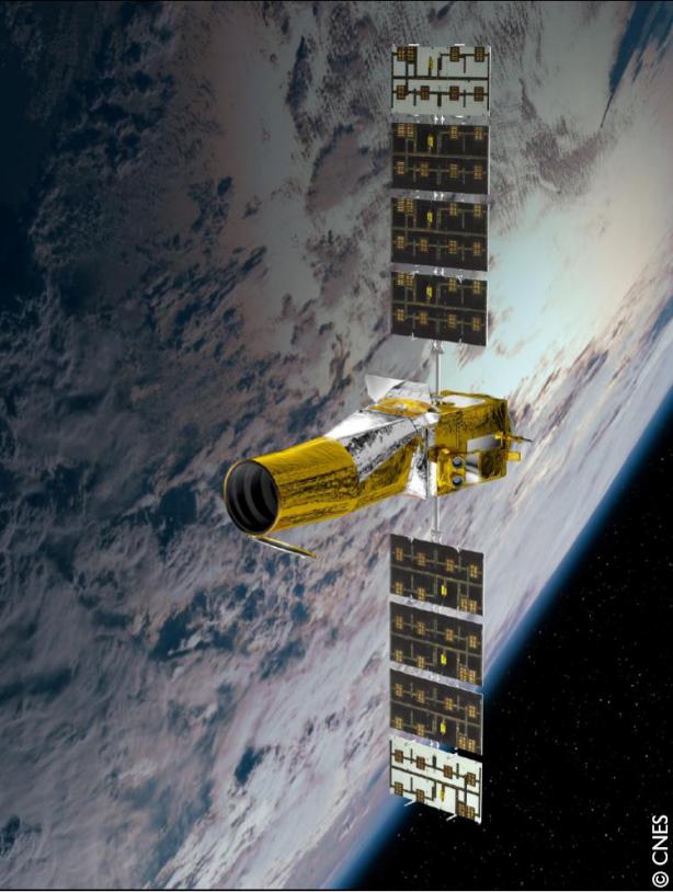 Le satellite CoRoT. Crédits : CNES/Ill. D. Ducros.