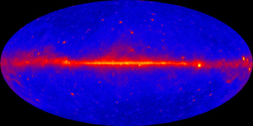 Image du premier catalogue Fermi